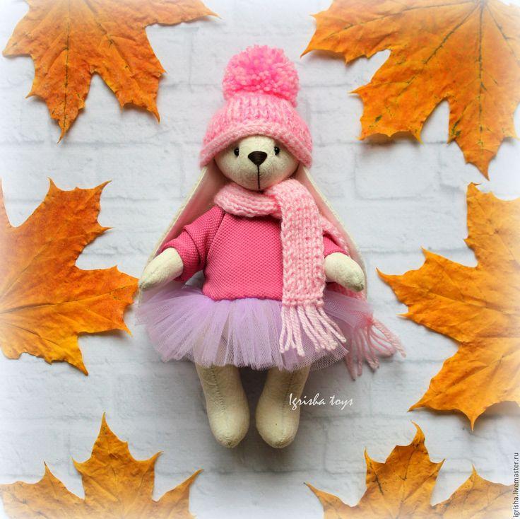 Купить Зимняя зайка - интерьерная зайка, интерьерная игрушка, подарок дочке, подарок, новогодний подарок