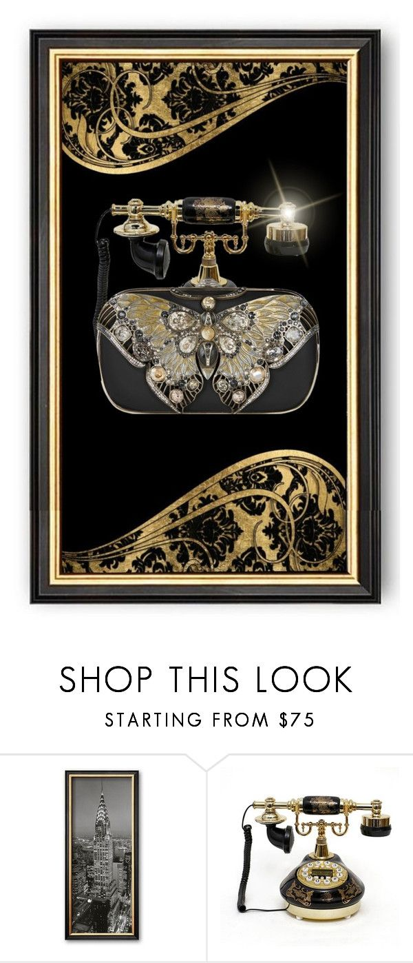 """""""Art Deco Butterfly Bag Tableau"""" by funkyjunkygypsy ❤ liked on Polyvore featuring Judith Leiber and Butter London"""