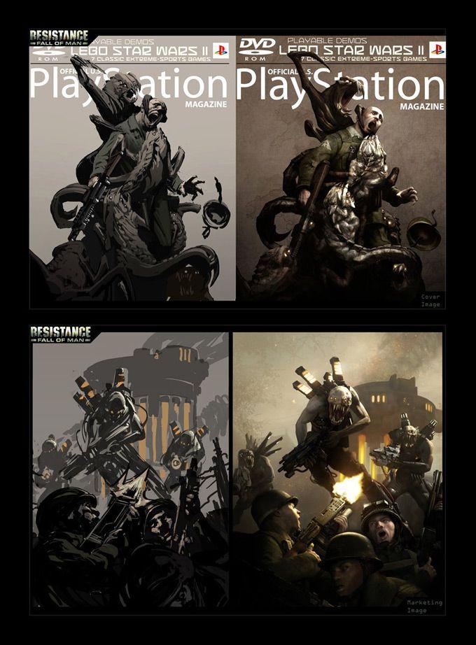 Resistance: Fall of Man Concept Art by Rodrigo Ribeiro