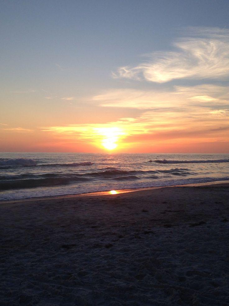 Sunset on the ocean in long boat key, fl