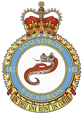 "Haietlik, similar to the Wasgo/Wasco, is the Nootka's ""lightning snake"".The creature is seen featured as part fof the Canadian 442 Transport and Rescue Squadron badge."