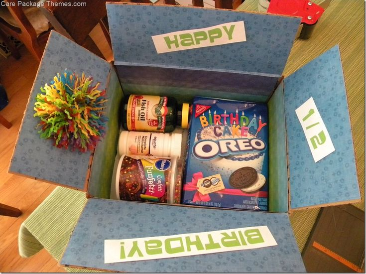 Happy Birthday Care Package - Care Package Themes .com