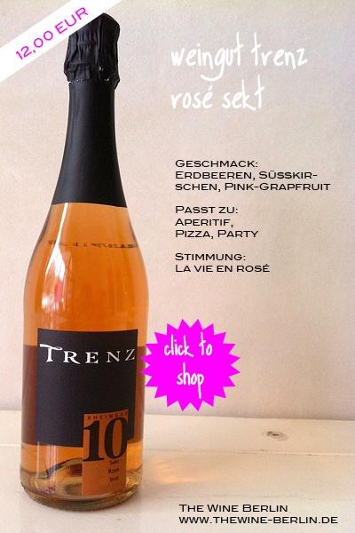 Rosé Winzersekt. Weingut Trenz. Johannisberg, Rheingau.