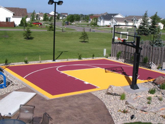 23 best basketball courts images on pinterest backyard for Diy sport court