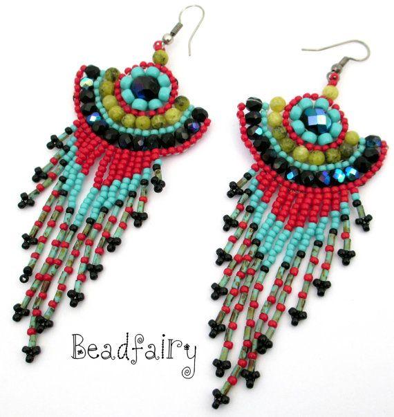 Heedless Sins Earrings by BeadfairyStore on Etsy