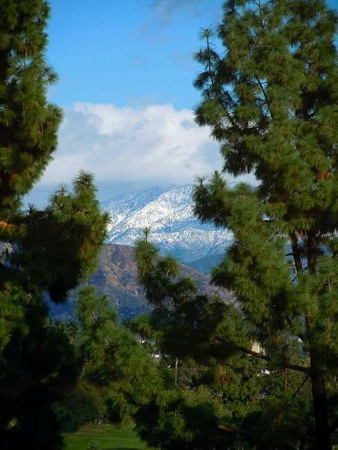 San Gabriel Mountains from Temple City, CA