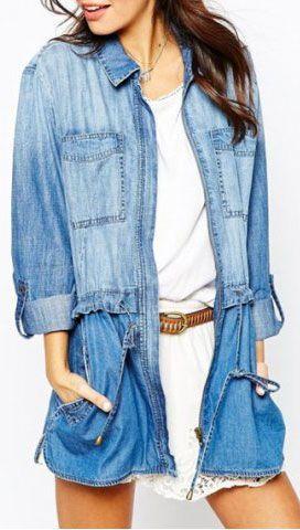 denim shirt/jacket/tunic/dress --- it's a 4-in-1!