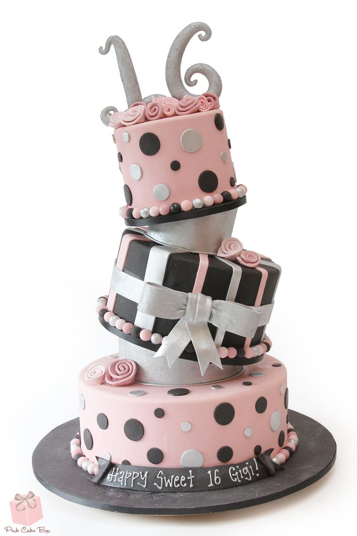 36 Best Sweet 16 Cakes Images On Pinterest 16th Birthday