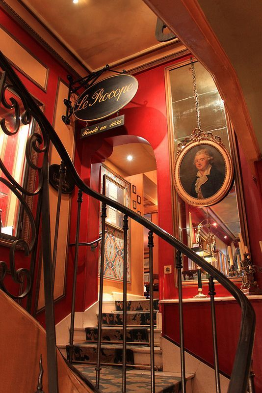 Café Procope ~ Oldest cafe in Paris, France