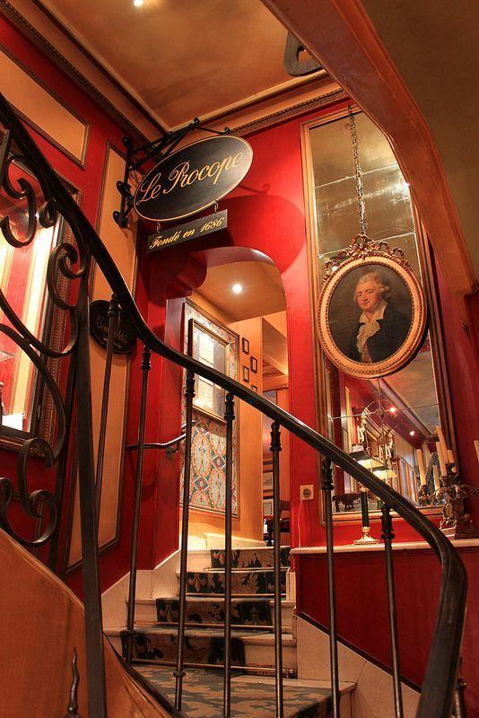 Café Procope ~ Oldest cafe in Paris, France