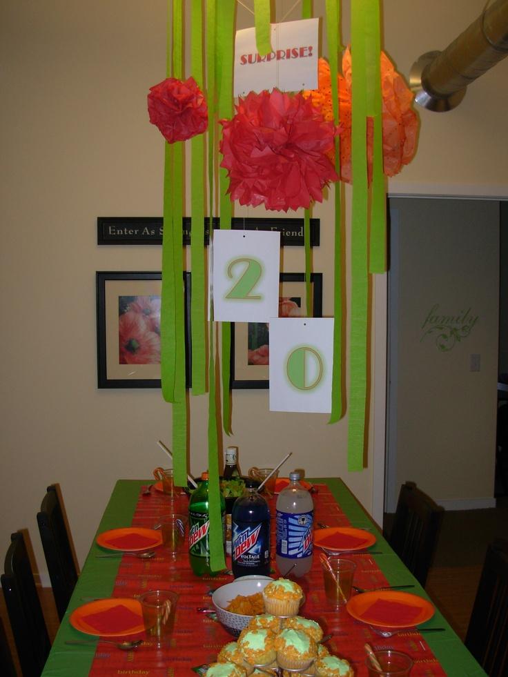 20th birthday surprise Birthday decorations, Girls