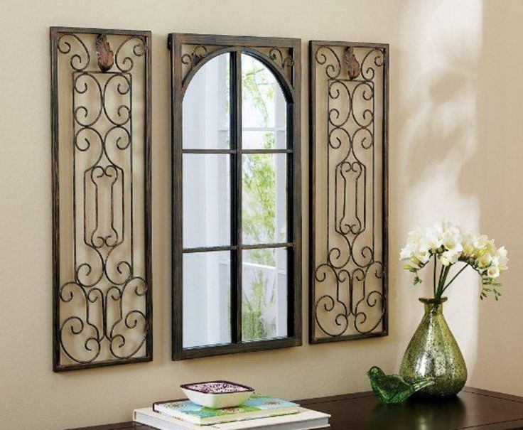 wrought iron wall decor rectangular