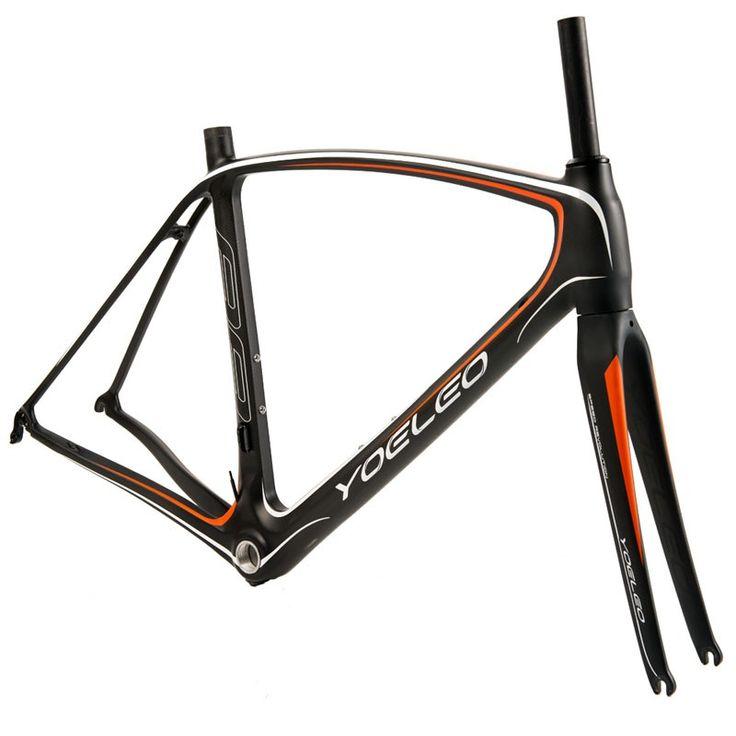 YOELEO 88 Orange Carbon Road Racing Frameset