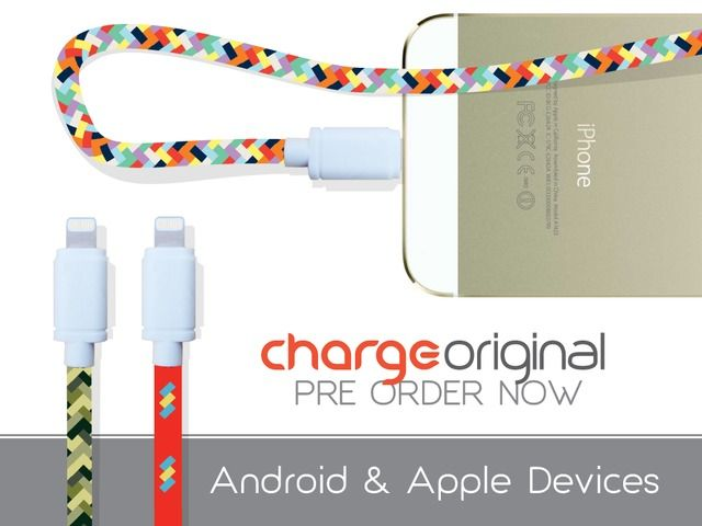ChargeOriginal durable USB cable longer & fast charging! by Wooke Store — Kickstarter.  * braided cables - not flat.