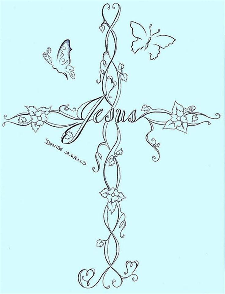 Feminine Cross Tattoo Tattoo Ideas Cross Tattoo Designs Crosses ...