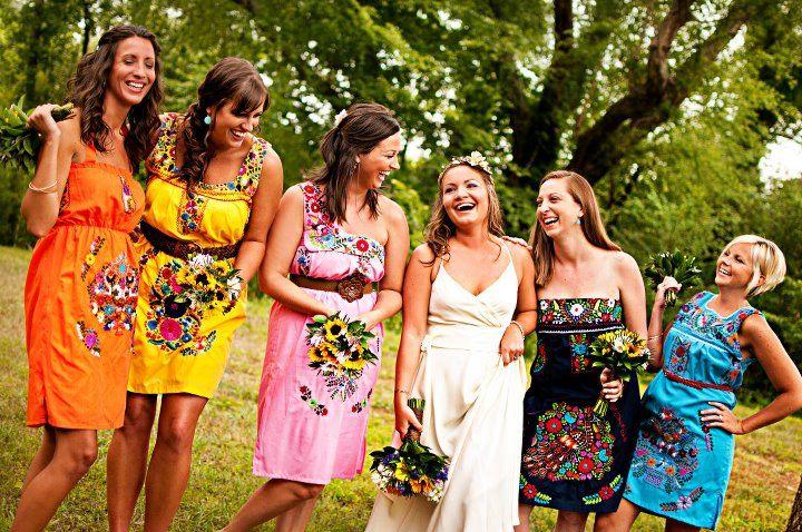 Mexican dresses for unique casual dresses, and super cheap! :) Jessica's wedding pics are ADORABLE, great idea