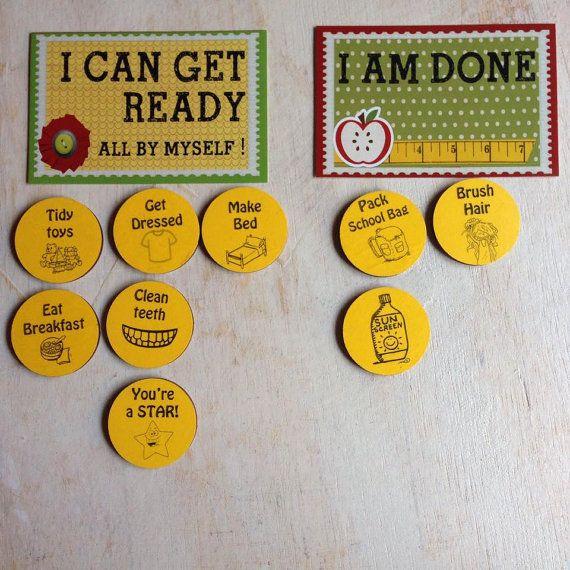 Concevoir votre propre jeu de puces de corvée magnétique pour aider vos enfants à accomplir leurs tâches et prêt pour le plaisir !  Aider vos enfants à