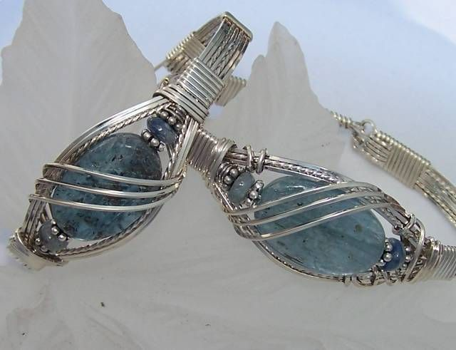 Wire Wrapped Ice...Cool Kyanite Bracelets!