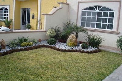 decoracion de jardines pequeños con piedras | Diseño de interiores