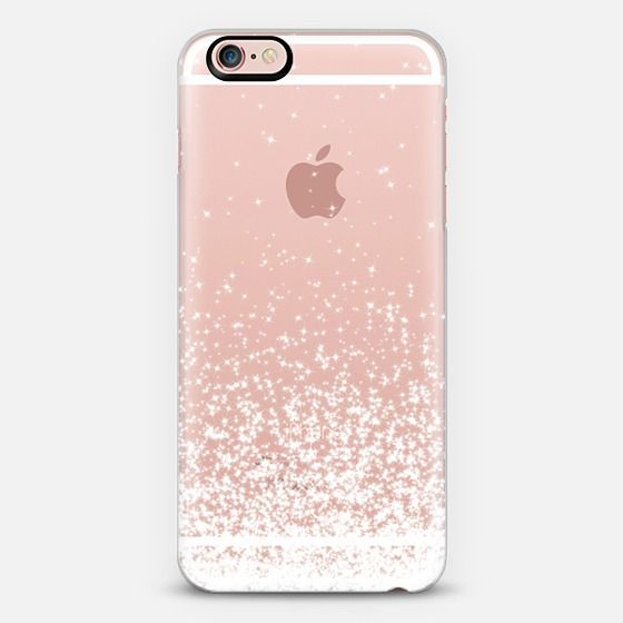 White Sparkles Transparent iPhone 6s Case by Organic Saturation | Casetify