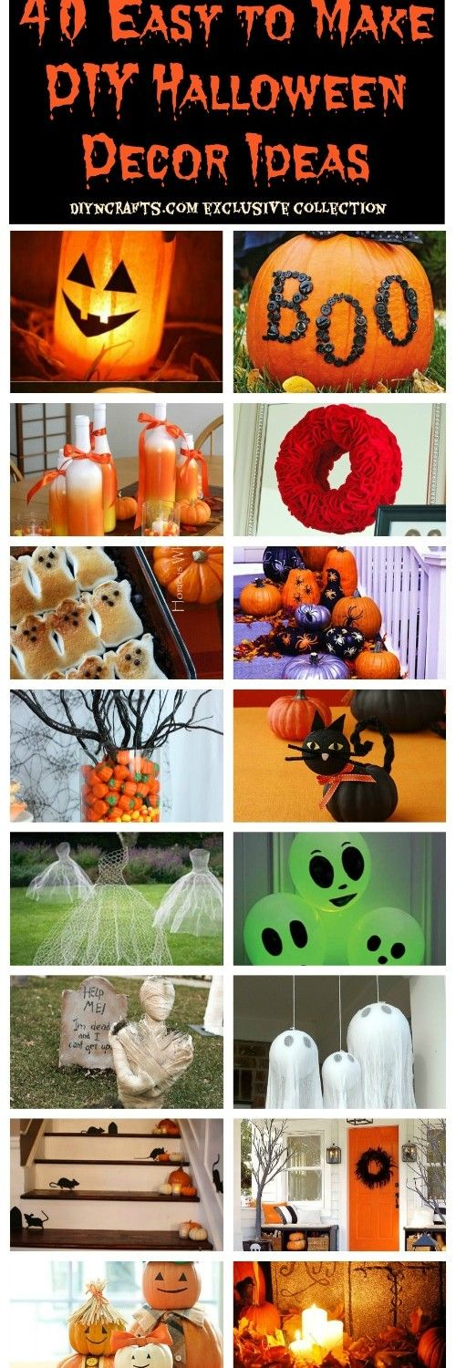 40 Easy to Make DIY Halloween Decor Ideas – Page 35 of 41 –...