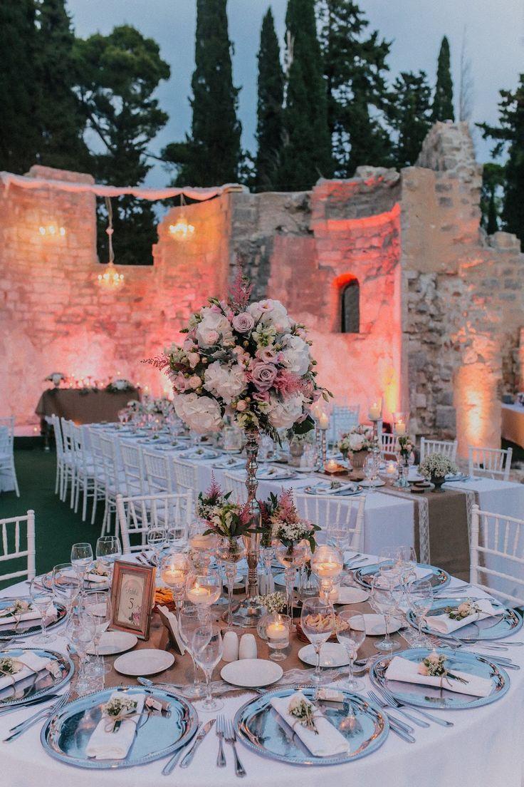 Stunning Lorkum Island Wedding - Dubrovinik Croatia in the Monastery ruins - A Wedding Venue in Croatia with that added WOW factor -  by  Dubrovnik Event https://dubrovnikweddingsandevents.blogspot.ie/2017/02/spectacular-lokrum-island-wedding-fairy.html