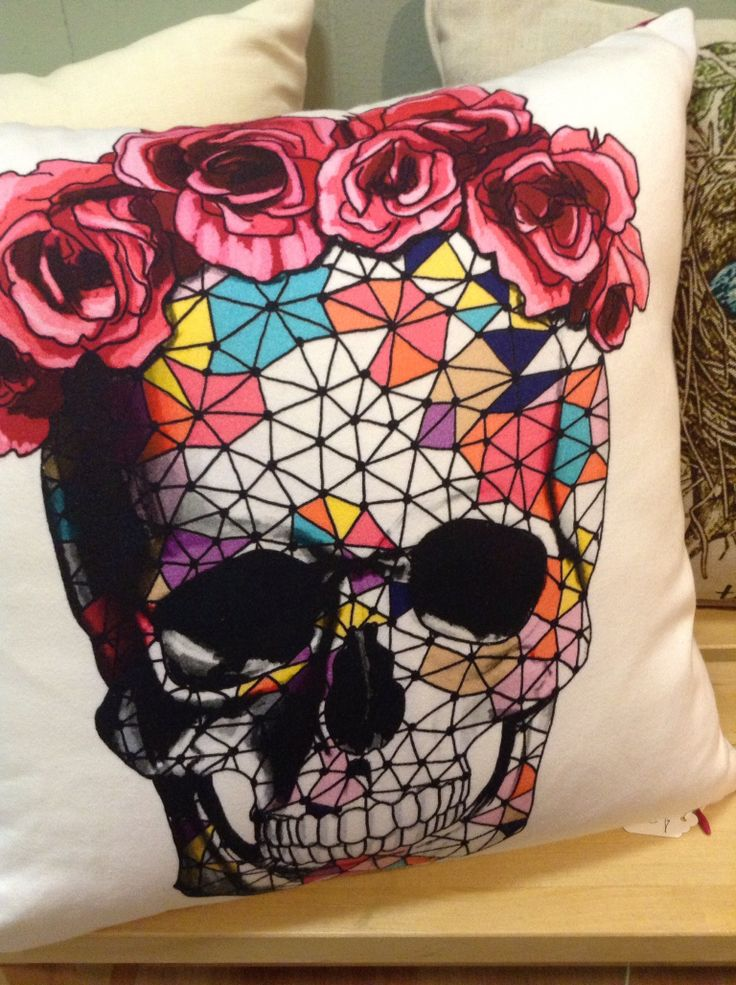Candy skull cushion | Tattoo | Pinterest | Skulls, Candy ...