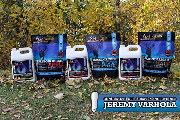 You scraped & sniffed - we drew a winner! Congratulations Jeremy Varhola of Caldwell Ohio, you won the complete line of our Braggin' Rights attractants! If you aren't the lucky winner but still want Ani-Logics attractant for your herd to sniff for themselves, check out all the options at anilogics.com! North American Whitetail #ProvenScience #CrazyAttraction