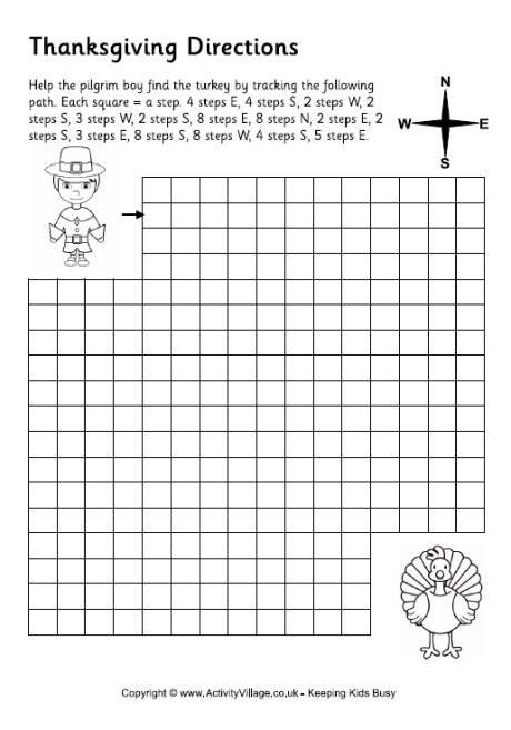 Thanksgiving directions worksheet   Thanksgiving Crafts   Pinterest ...