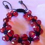 Double Red Crystal String Bracelet