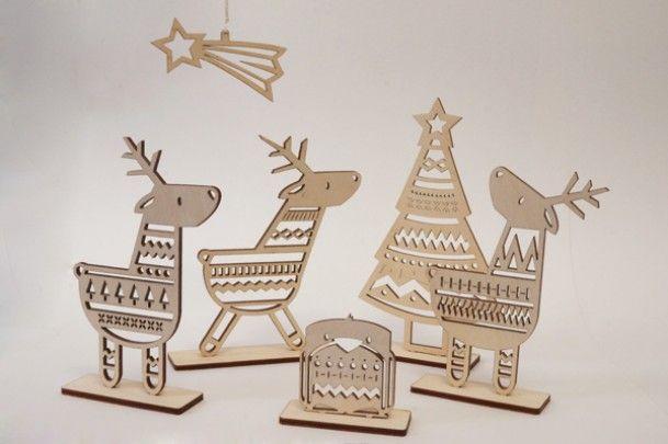 Beautiful laser cut Reindeer Set from Irish store Snow Event Design. WANT!