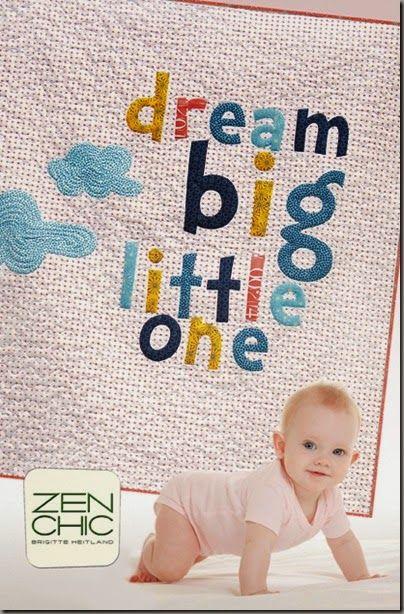 Dream Big modern baby quilt pattern Zen Chic, www.brigitteheitland.de