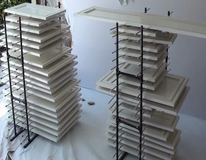 Paint Doors On Both Sides Store Them Wet Thinking I Could Probably Make Something Like This Drying Rack Diy Painted Doors Diy Cabinet Doors