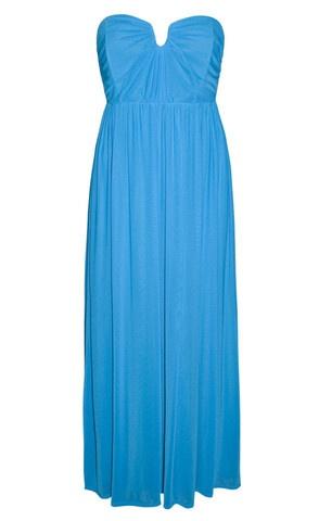 Georgie Aqua Blue Maxi Dress $59.95  www.littlepartydress.com.au