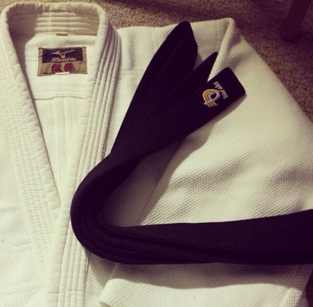 Judo gi, black belt