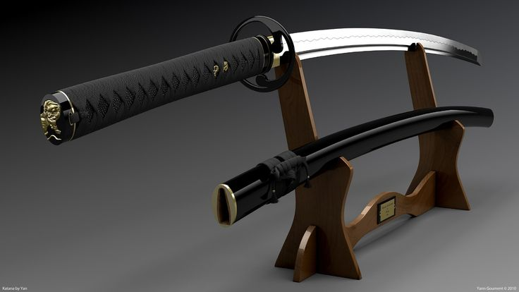 #katana: Samurai Wallpapers, Katana Artists, Black Katana, Beautiful Black, Weapons, Samurai Swords, Katana Wallpapers, Blade, Artists Wallpapers
