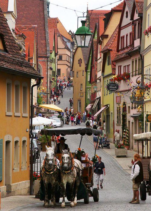 The preserved medieval town of Rothenburg ob der Tauber, Bayern, Germany