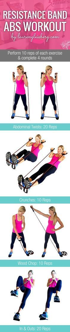 RESISTANCE BAND AB WORKOUT | Click for the full fitness plan by http://LaurenGleisberg.com