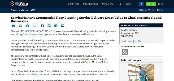 http://www.sbwire.com/press-releases/servicemasters-commercial-floor-cleaning-service-delivers-great-value-to-charlotte-schools-and-businesses-704766.htm - Professional commercial floor cleaning and other cleaning services are helping Charlotte area schools get more life from floors, equipment and furniture