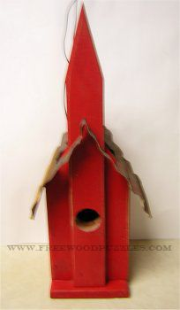Free Bird House Plans - Church Bird House