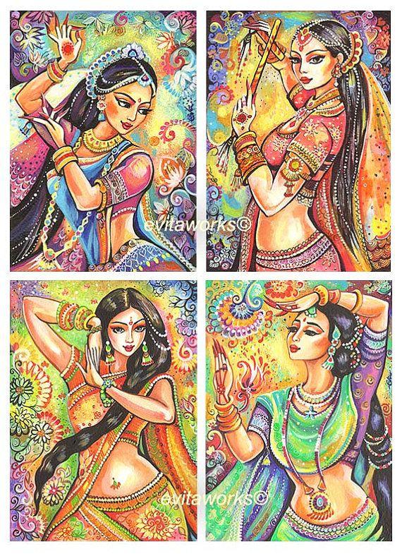 India Dance Dancer Woman Indian Girl