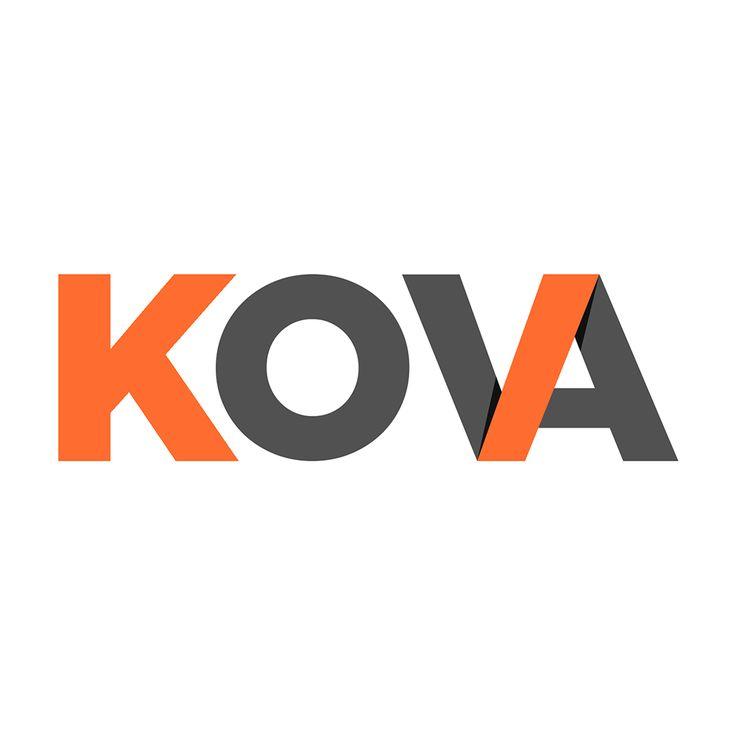 KOVA - Logo design - Communication - Orange / Gray