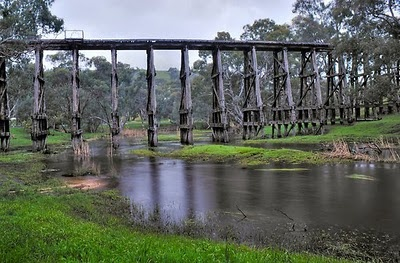 Lancefield trestle bridge