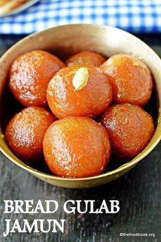 BREAD GULAB JAMUN - A take on the tradtional Indian sweet - gulab jamun