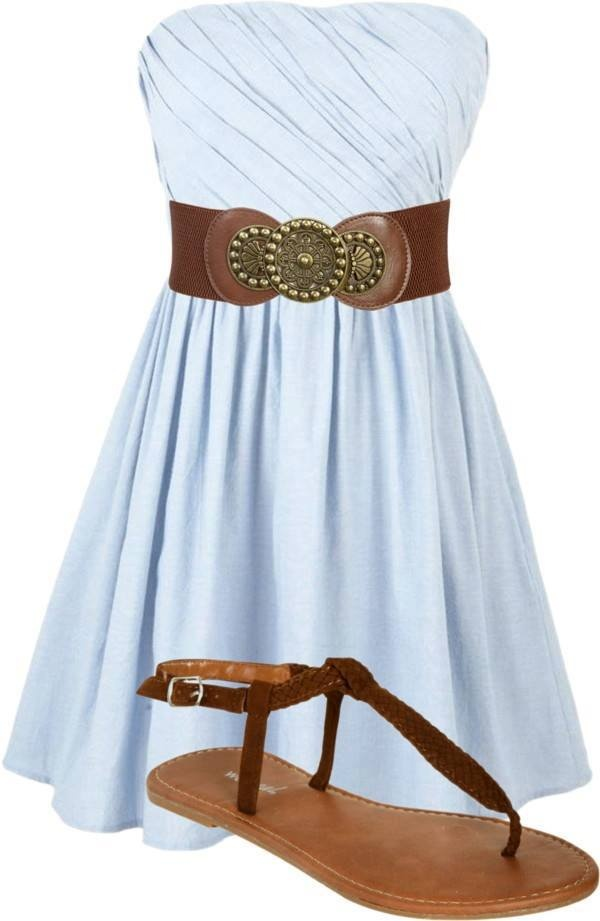 high fashion dress, shoes, beld for ladies: