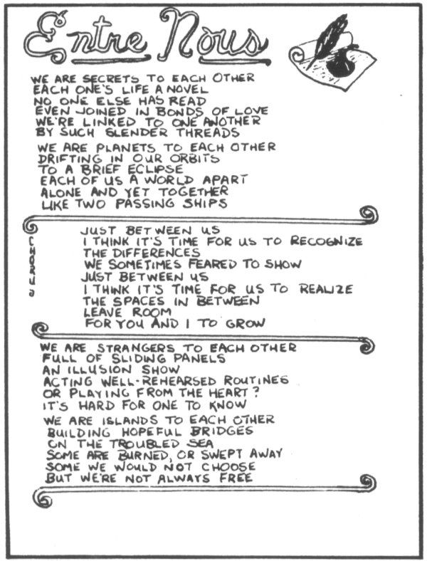 Rush band lyrics entre nous