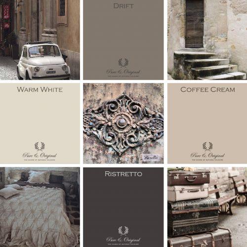 Kleurenkaart voor kalkverf en krijtverf kleuren | Pure & Original