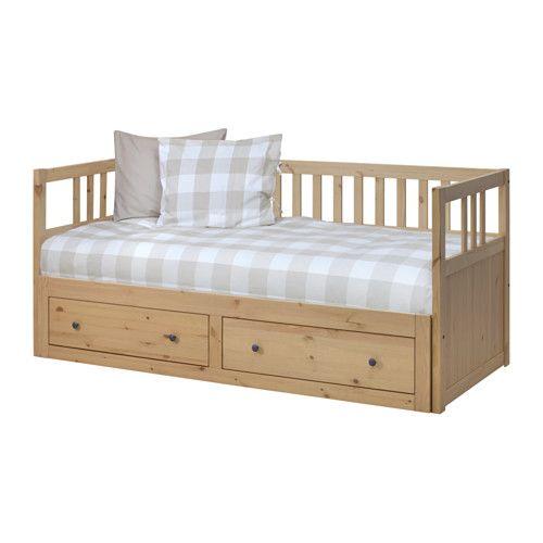 HEMNES Rám pohovky s úložným prostorem IKEA Čtyři funkce – pohovka, lůžko, dvojlůžko a úložný prostor.