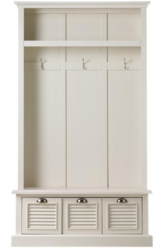 Shutter locker storage ... Homedecorators.com  for entryway / mushroom / shoe storage