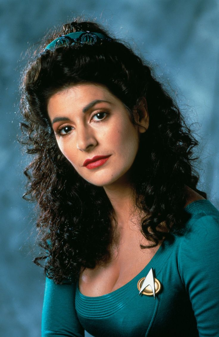 Star Trek: Next Generation - Conselheira Deanna Troi; played by Marina Sirtis